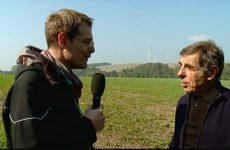 Michel Kuffler, maire d'Herbitzheim, explique l'intérêt de posséder une éolienne.
