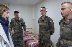 La Ministre des Armées, Florence Parly, est venue à la rencontre du bataillon.