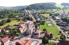 Mosaïk vous fait découvrir la carte postale du village de Blies-Guersviller.