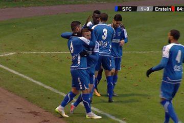 Résumé de la rencontre entre le Sarreguemines FC et l'AS Erstein.