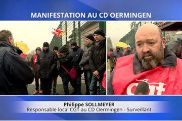 Manifestation devant le Centre de Détention d'Oermingen
