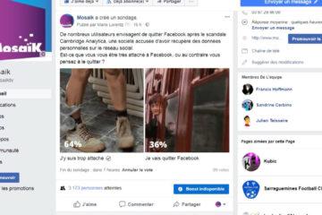 Vous êtes attachés à Facebook ou vous voudriez le quitter ?