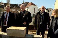 La première pierre de la nouvelle résidence l'Entre-toit a été symboliquement posée.