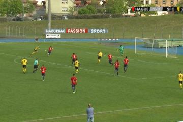 Résumé de la rencontre du FCSR Haguenau et du Sarreguemines FC.
