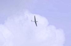 Planer dans les nuages, au-dessus de Sarreguemines.