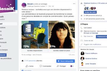 Réseaux sociaux : souhaitez-vous que vos données disparaissent à votre décès ?
