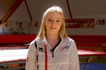 Alicia Triebsch, allie grâce et pesanteur sur trampoline