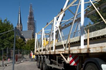 Pont de Sarralbe en travaux