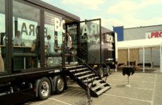 Démonstrations culinaires dans un camion à Sarreguemines