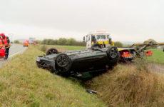 Accident entre Sarreguemines et Woustviller
