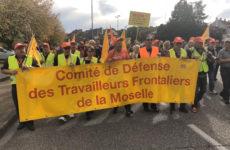 Les travailleurs frontaliers expriment leur colère