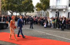 Le couple royal hollandais en visite à Sarrebruck